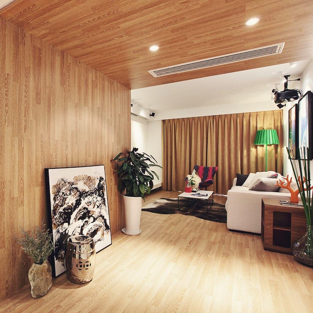 原木混搭风家居室内装饰图