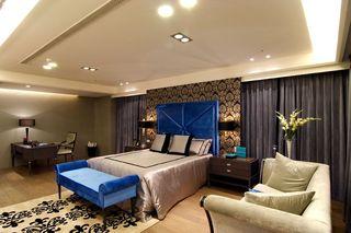 现代中式混搭卧室软装鉴赏