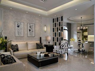 唯美新古典风格 客厅背景墙设计