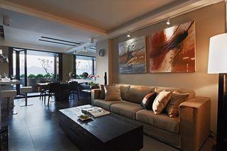 休闲美式客厅 沙发照片墙设计