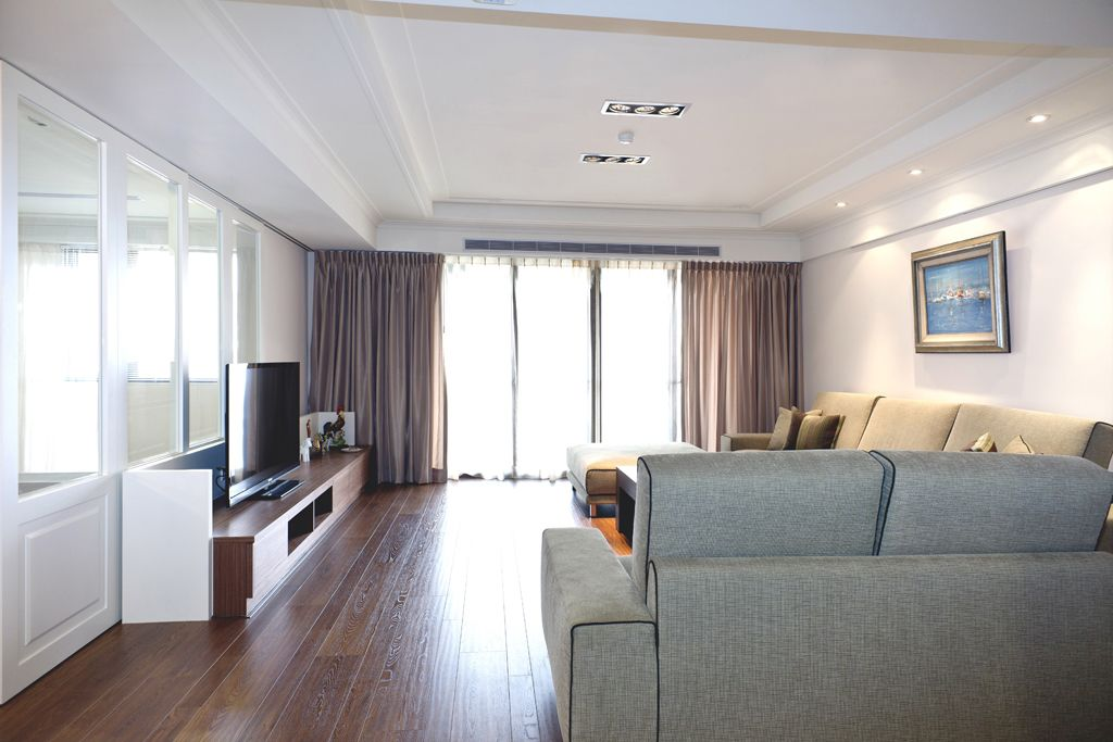 简美式装修客厅整体效果图
