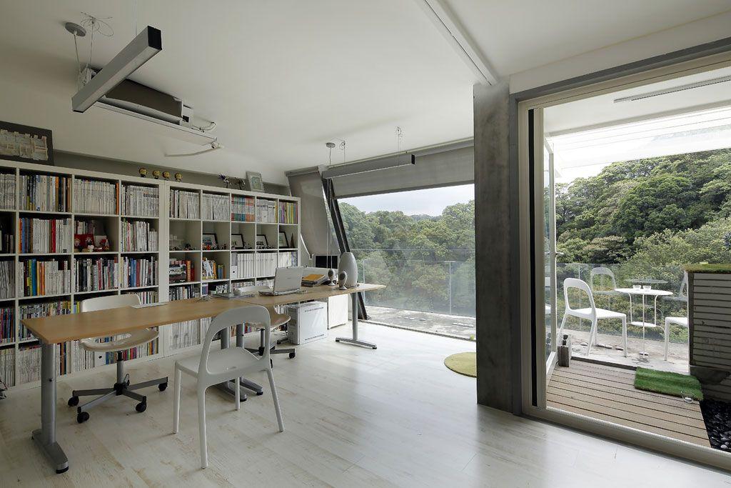 简约现代别墅书房窗户效果图