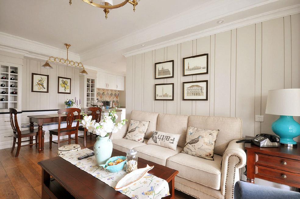 美式风格客厅相片墙设计
