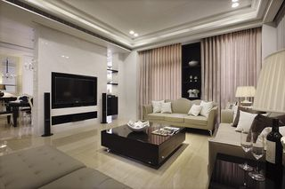 現代風格客廳電視墻設計