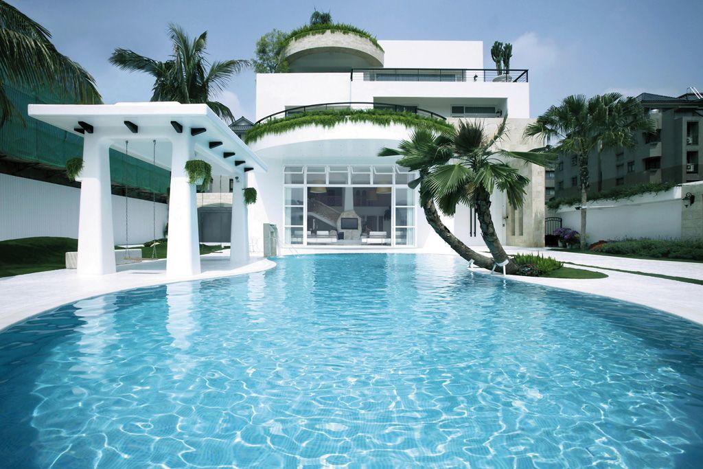 华丽现代白欧风别墅外观设计大全