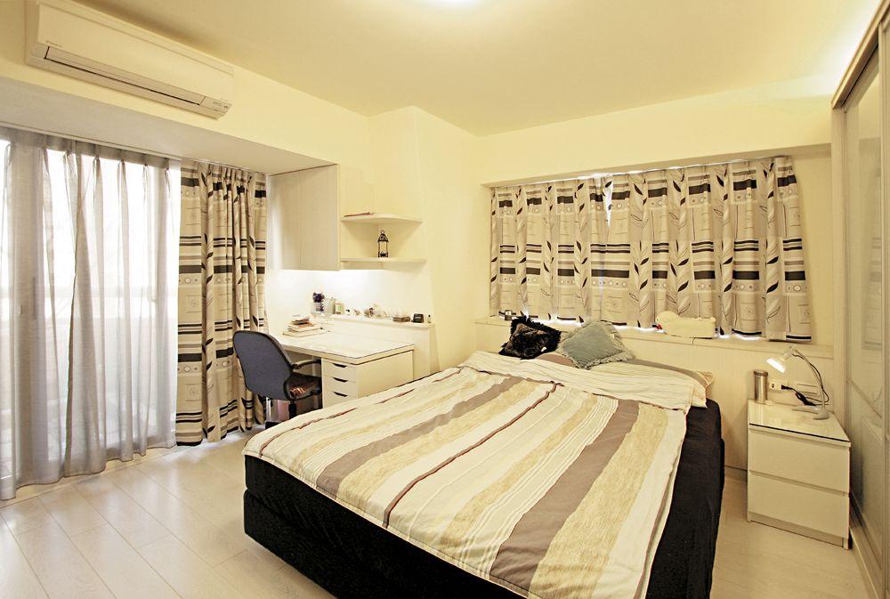 舒适简欧风情卧室窗帘设计