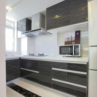 现代风厨房 黑色橱柜效果图