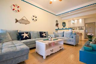 地中海风格客厅软装欣赏