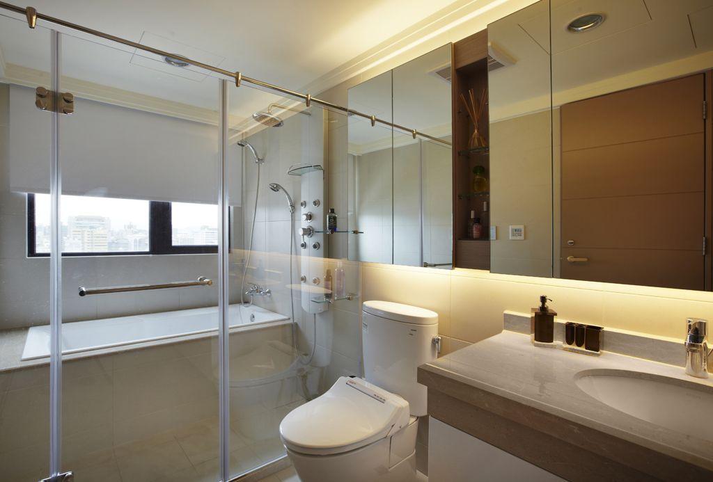 时尚现代简约风浴室隔断设计