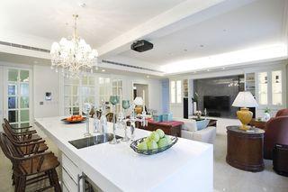美式风格客厅吧台设计