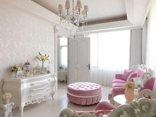 甜美欧式公主房客厅效果图