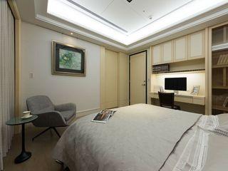 简中式卧室背景墙设计