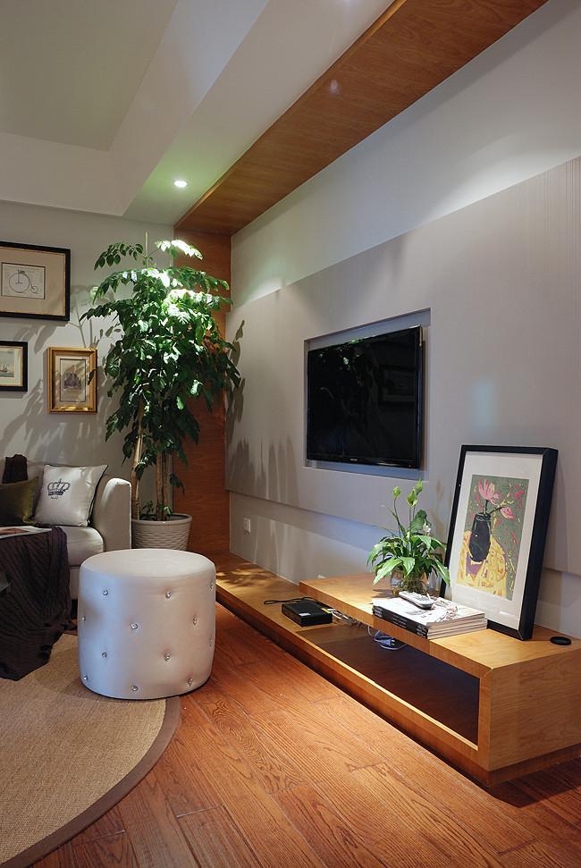 简约客厅电视背景墙造型鉴赏