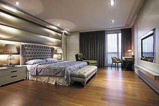 时尚现代卧室床头背景墙装饰