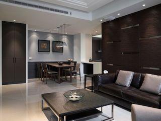 潮流现代家居客厅茶几装饰图