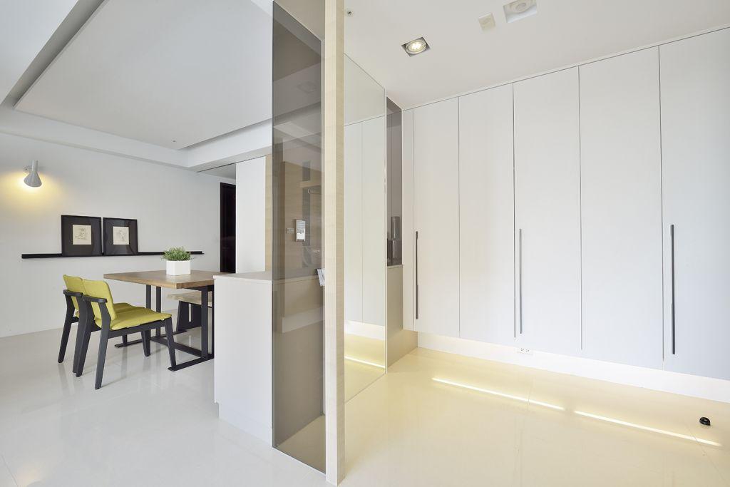 白色简约家居收纳柜设计