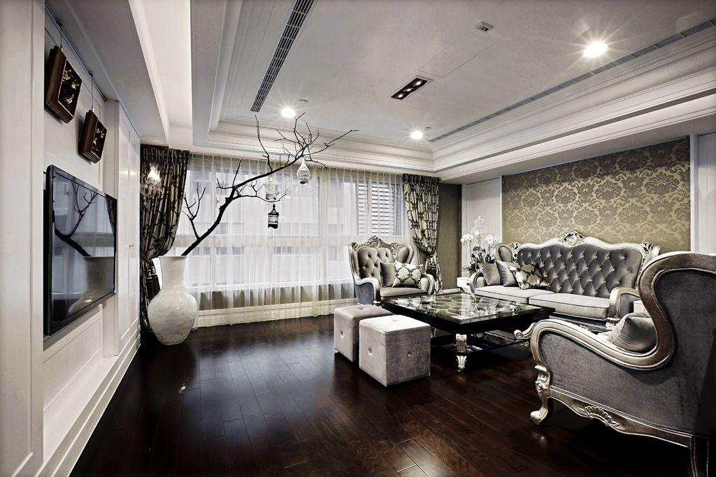 最新简欧风格客厅家装效果图