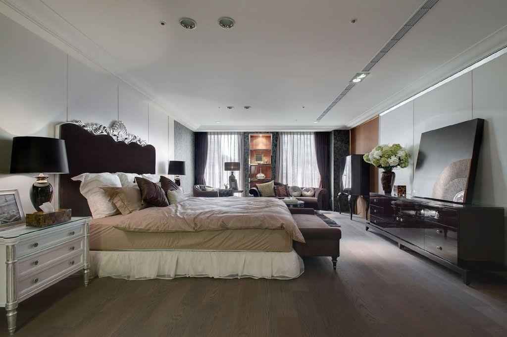 新古典风格 卧室石膏吊顶效果图