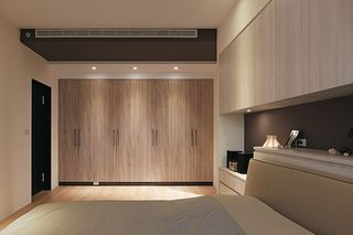 现代装修卧室实木衣柜设计