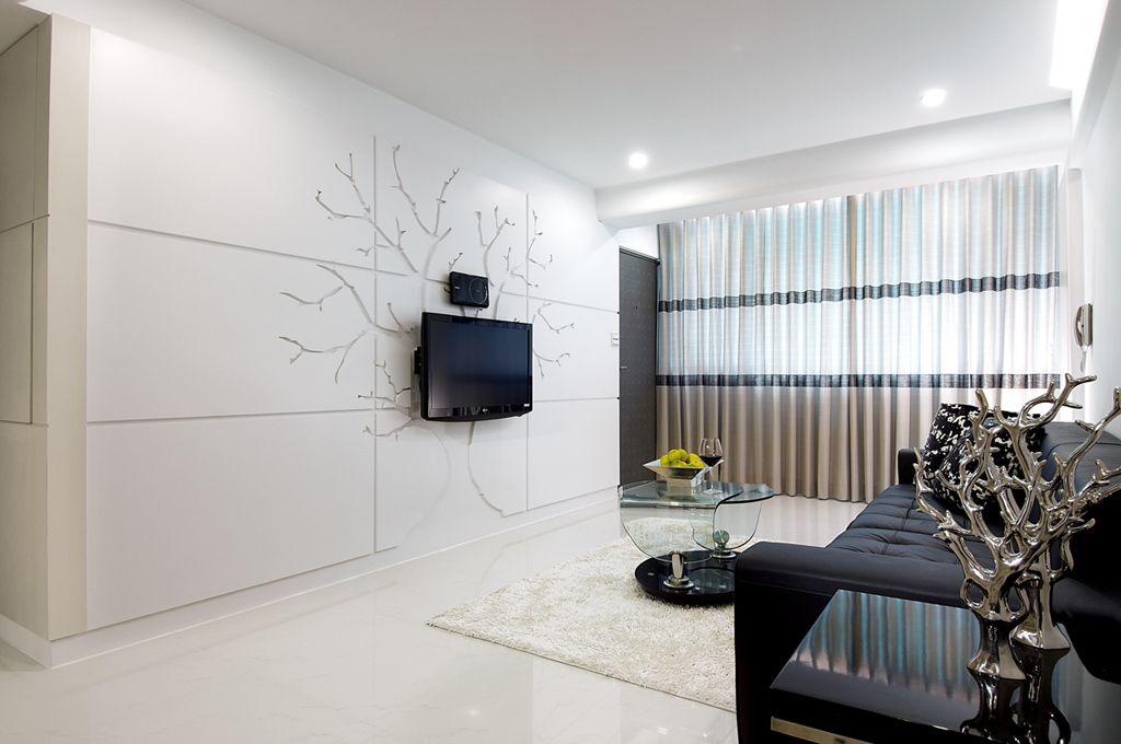 简约客厅创意电视背景墙欣赏