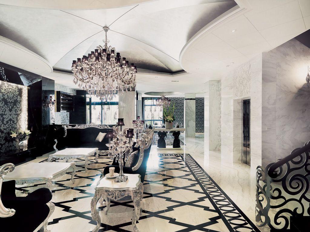 黑色新古典欧式风格 别墅家装设计