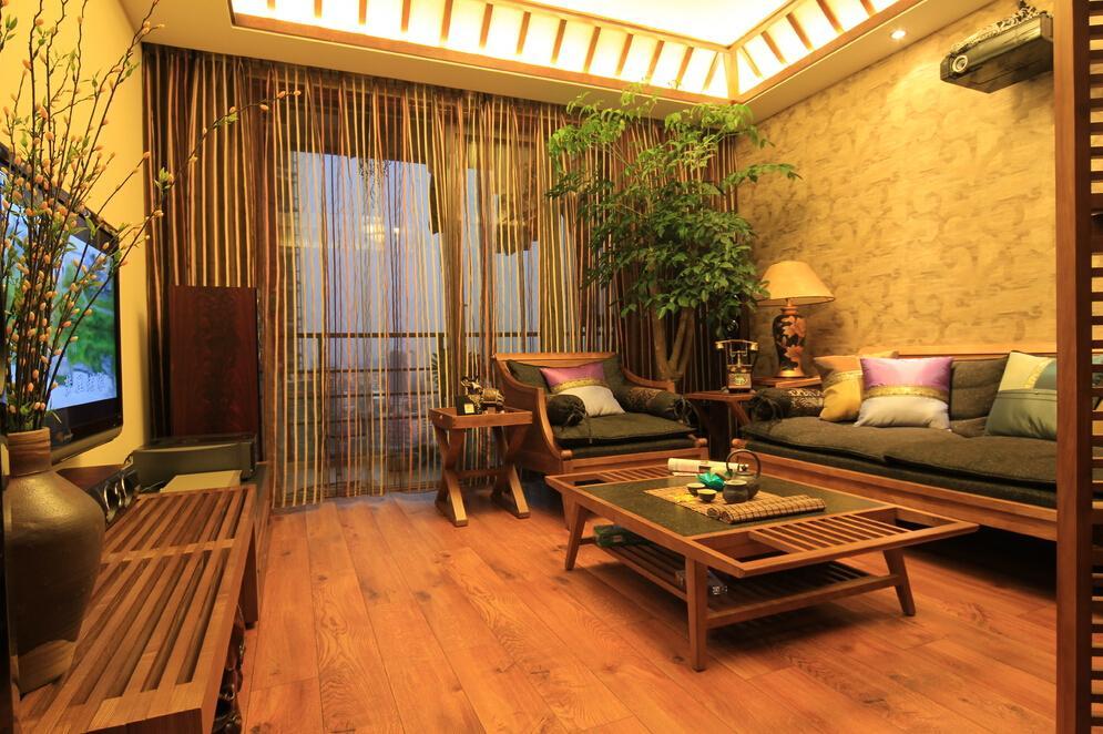 东南亚风格客厅窗帘装饰