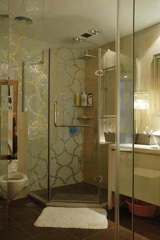 现代简约卫生间淋浴房效果图