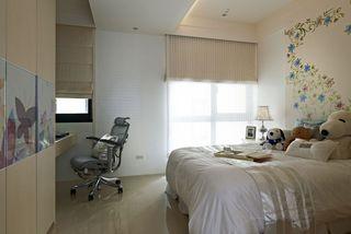 优雅裸色系宜家风卧室效果图