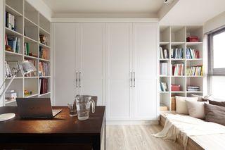简约风格书房整体柜效果图
