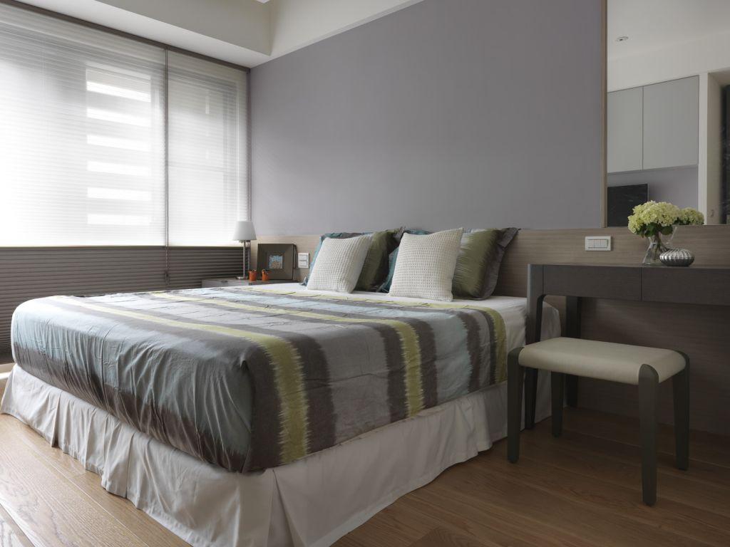 简约灰色系 北欧风情卧室效果图