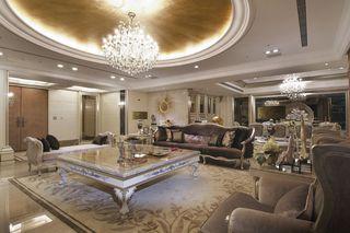 奢华欧式新古典客厅 圆形吊顶效果图