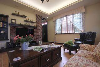 美式乡村风三室两厅装修设计