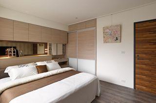 素雅简中式风卧室背景墙设计