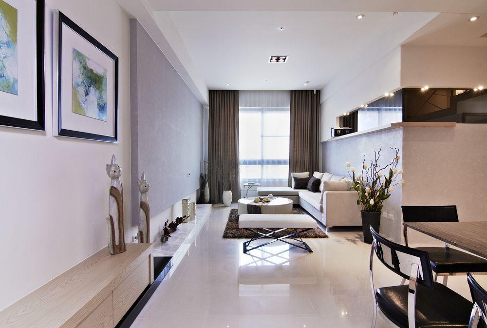 现代美式客厅吊顶效果图