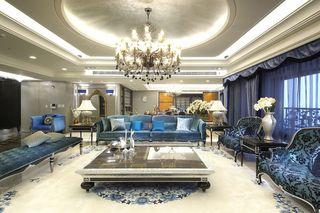 欧式古典奢华风大三居装饰图