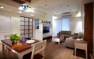 美式风格客厅整体装修效果图