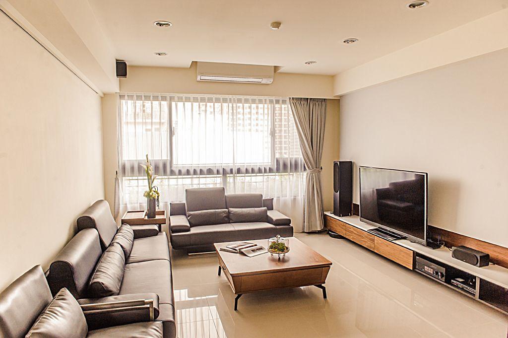 休闲美式二居客厅装修图