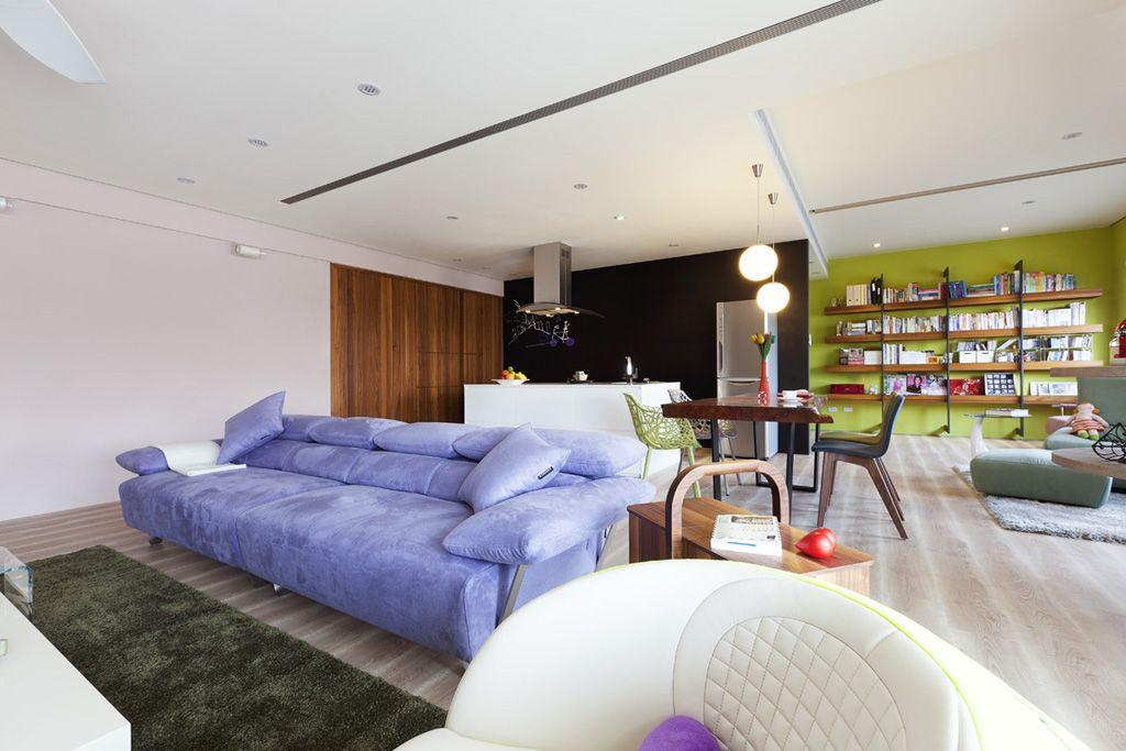 混搭风格客厅沙发装饰图