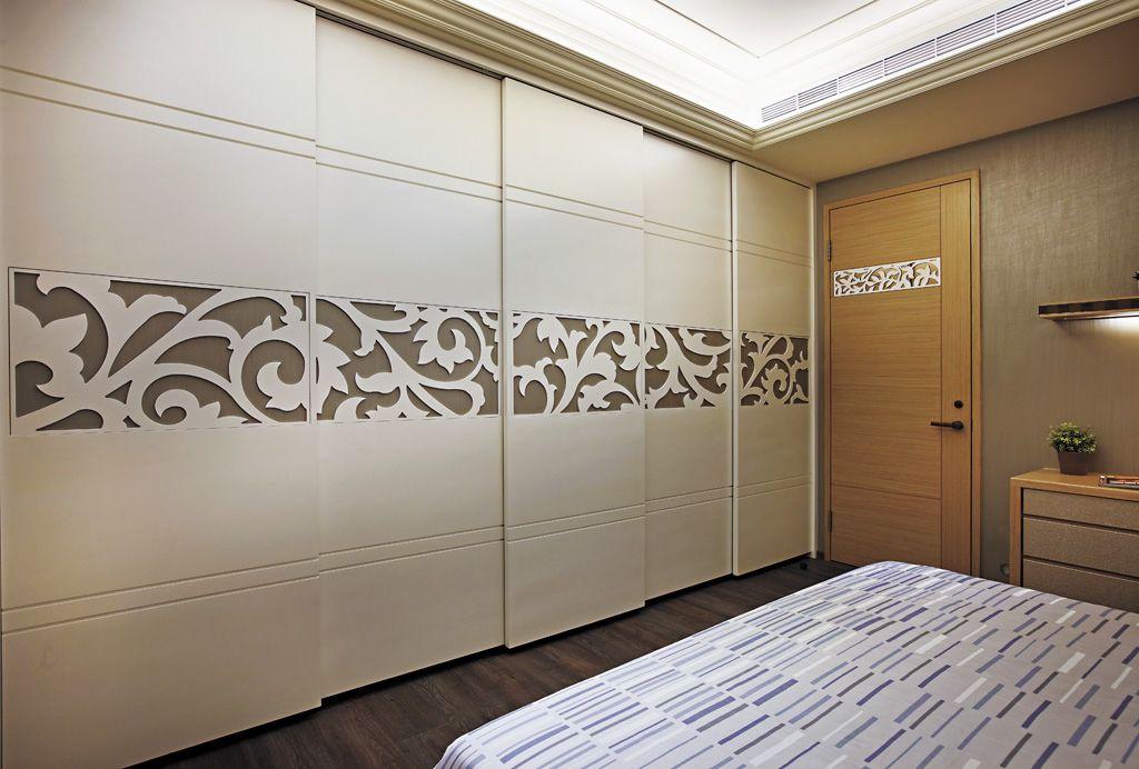 新古典卧室推拉门衣柜设计