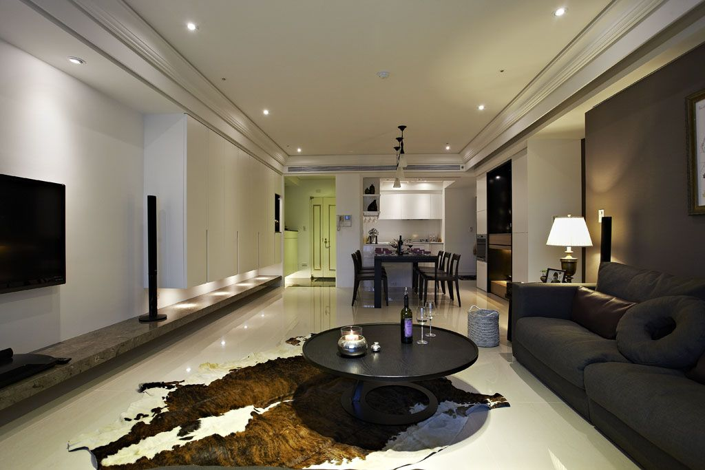 黑白现代三居室内装饰设计