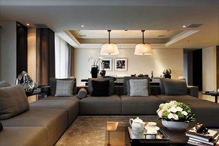 高端现代都市风 客厅沙发效果图