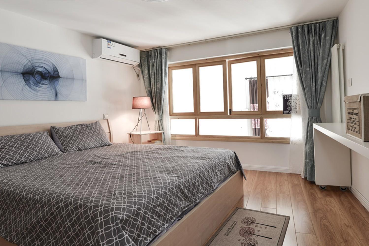 自然北欧风情卧室窗户效果图