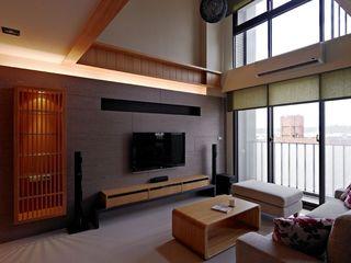 沉稳现代日式复式家装设计