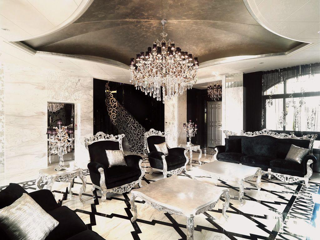 奢华摩登欧式客厅吊顶效果图