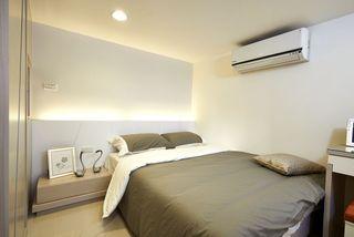 灰白日式风格卧室装饰图