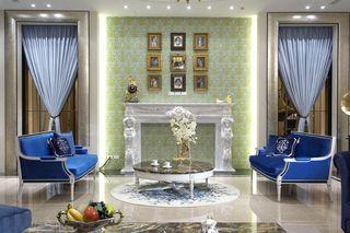 最新欧式风格客厅背景墙设计