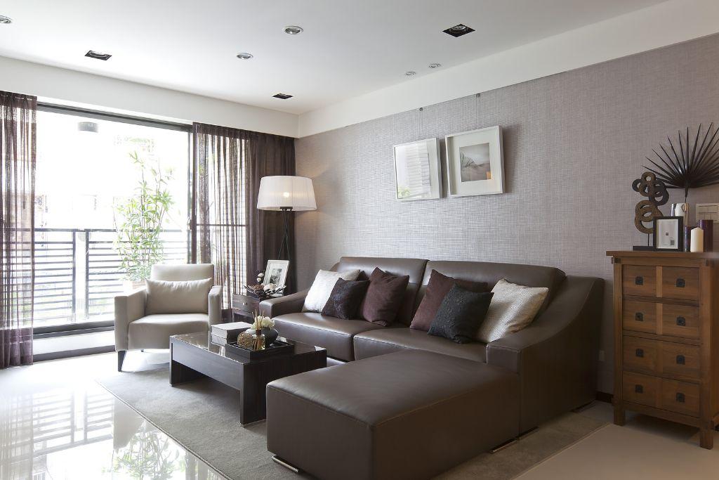 简约美式客厅沙发装饰