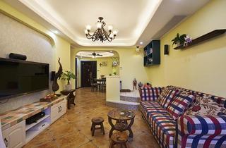 地中海风格两室两厅装潢设计
