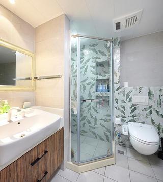 清新复古美式 玻璃淋浴房效果图
