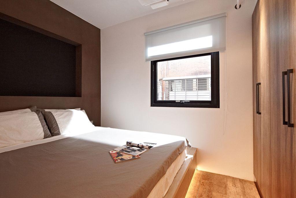 简约美式卧室窗户效果图